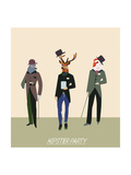 Vintage Hipsters Trendy Illustration Posters by  run4it