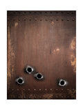 Old Metal Background With Bullet Holes Prints by  Andrey_Kuzmin
