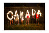 Canada Sparklers In Time Lapse Photography Posters by  bigjohn36