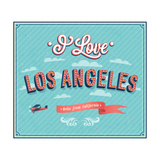 Vintage Greeting Card From Los Angeles - California Prints by  MiloArt