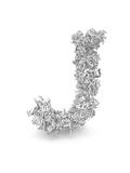 Shape Of Letter J Made From 3D Letters Print by Dan Bolshakov