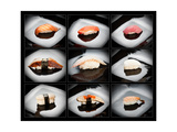 Set Of 9 Different Nigirizushi (Sushi) Print by  Lev4