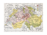 Switzerland Historical Development Old Map Prints by  marzolino