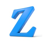 3D Alphabet, Letter Z Isolated On White Background Prints by Andriy Zholudyev