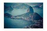 Rio De Janeiro, Brazil. Suggar Loaf And Botafogo Beach Viewed From Corcovado Prints by Mariusz Prusaczyk