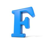 3D Alphabet, Letter F Isolated On White Background Posters by Andriy Zholudyev