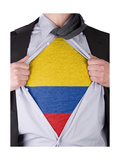 Business Man With Colombian Flag T-Shirt Posters by  IJdema