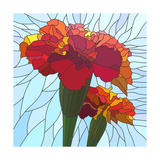 Flower Red Marigold Posters by  Vertyr