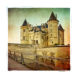 Saumur Castle - Artistic Retro Picture Prints by  Maugli-l