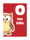 O For The Owl, An Animal Alphabet For The Kids Prints by Elizabeta Lexa