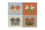 Retro Reel To Reel Tape Recorder Icon Poster by  YasnaTen