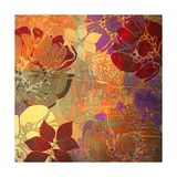 Art Floral Grunge Background Pattern. To See Similar, Please Visit My Portfolio Print by Irina QQQ