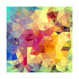Colorful Abstract Triangles Posters by  art_of_sun
