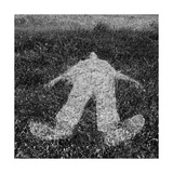 Human Figure Outline Imprinted On Grass Poster by  sirylok