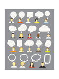 Different People With Speech Bubbles Collection Art by  tovovan