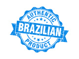 Brazilian Product Blue Grunge Stamp Poster by  aquir