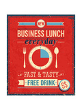 Vintage Bussiness Lunch Poster Prints by  avean