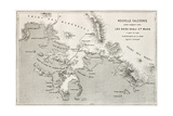 Noumea Region Old Map, New Caledonia Print by  marzolino