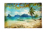 Tropical Beach - Artwork In Painting Style Poster by  Maugli-l