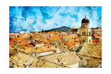 Ancient Dubrovnik -Artwork In Painting Style Posters by  Maugli-l