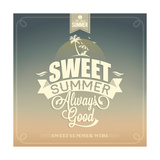 Sweet Summer Typography Background For Summer Prints by  Melindula