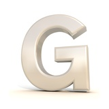 3D Alphabet, Letter G Isolated On White Background Prints by Andriy Zholudyev