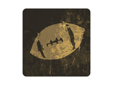 American Football Illustration. With Grunge Texture Prints by  pashabo