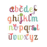 Girly Alphabet Set Posters by Pink Pueblo