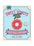 Vintage Donuts Poster Posters by  avean
