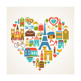 Pars Love - With Set Of Icons Poster by  Marish