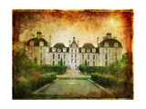 Castle On Sunset - Picture In Grunge Style Prints by  Maugli-l