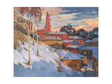 Kind On A Winter City, Oil On A Canvas Posters by  balaikin2009