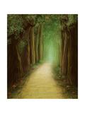 Magic Dark Forest Road, Digital Painting Plakater af shooarts
