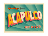 Vintage Touristic Greeting Card - Acapulco, Mexico Posters af Real Callahan