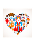 Russia Love - Heart Prints by  Marish