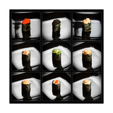Set Of 9 Different Gunkanmaki (Sushi) Poster von  Lev4