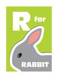 R For The Rabbit, An Animal Alphabet For The Kids Print by Elizabeta Lexa