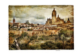 Segovia - Medieval City Of Spain - Artistic Retro Styled Picture Print by  Maugli-l