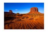 holbox - Monument Valley West Mitten And Merrick Butte Desert Sand Dunes Utah - Reprodüksiyon