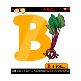 Letter B With Beet Cartoon Illustration Posters by Igor Zakowski