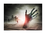 Zombie Rising. A Hand Rising From The Ground! Prints by  Solarseven