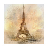 Retro Styled Background - Eiffel Tower Posters by  Maugli-l