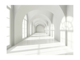 Modern Long Corridor With Big Windows Posters by  FreshPaint