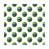 Seamless Brazilian Flag Spheres On White Background Illustration Prints by  fintastique