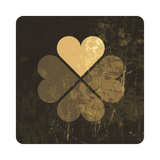 Grunge Lucky Clover Leaf Posters by  pashabo