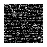 Blackboard With A Math Scribble Premium Giclee Print by  YKh