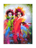 Two Clowns With A Violin And A Pipe Prints by  balaikin2009