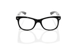 Black Glasses On A White Background Prints by  nito