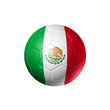 Soccer Football Ball With Mexico Flag Posters by  daboost