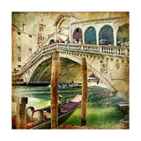Colors Of Venice - Artwork In Painting Style From My Italian Series Prints by  Maugli-l